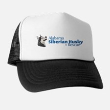 Cute Siberian husky rescue Trucker Hat