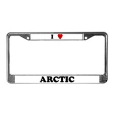 I Love Arctic License Plate Frame