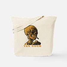 Van Gogh Skull Tote Bag