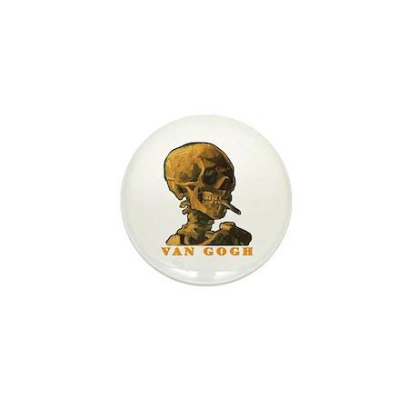 Van Gogh Skull Mini Button (10 pack)