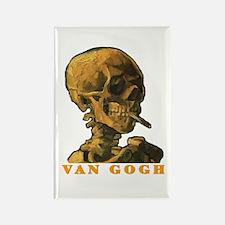 Van Gogh Skull Rectangle Magnet