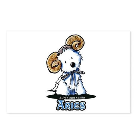 Aries Westie Postcards (Package of 8)