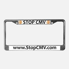 Stop CMV Classic License Plate Frame