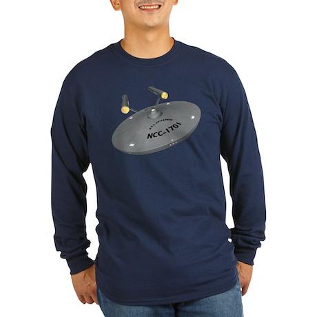USS Enterprise Long Sleeve Dark T-Shirt