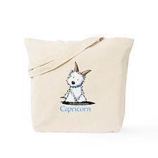 Capricorn Westie Tote Bag