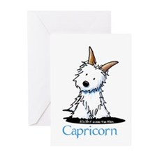 Capricorn Westie Greeting Cards (Pk of 10)