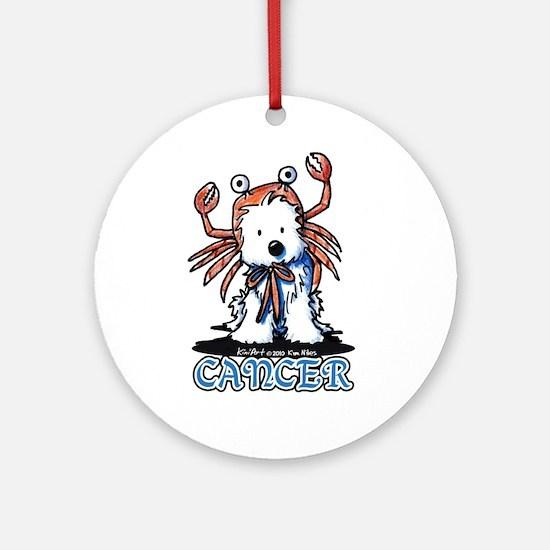Cancer Westie Ornament (Round)