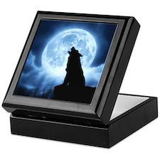 Cries of the Night Wolf Keepsake Box