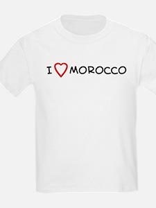 I Love Morocco Kids T-Shirt