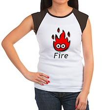 Women's Cap Sleeve T-Shirt - Fire