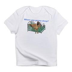 CBrNFNMtMrl Where sleep Infant T-Shirt