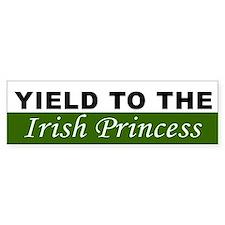 Yield To The Irish Princess Car Sticker