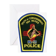 Truth or Consequences PD K9 Greeting Card