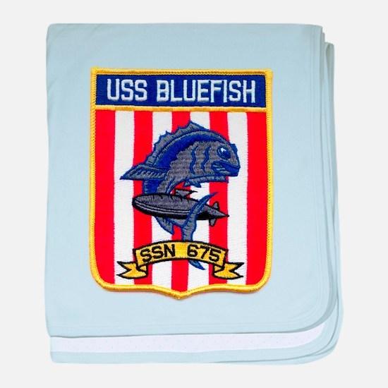 USS BLUEFISH baby blanket