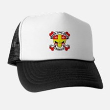 Ashworth Family Crest Skull Trucker Hat