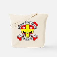 Ashworth Family Crest Skull Tote Bag