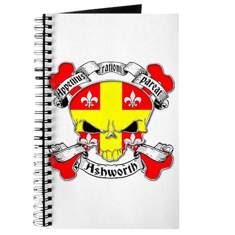 Ashworth Family Crest Skull Journal