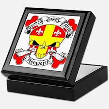 Ashworth Family Crest Skull Keepsake Box