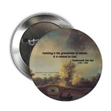 "Rembrandt: on God & Painting 2.25"" Button (10 pack"