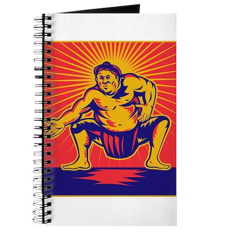 Sumo wrestler retro Journal