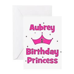 1st Birthday Princess Aubrey! Greeting Card