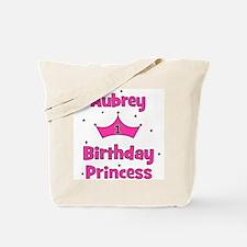 1st Birthday Princess Aubrey! Tote Bag