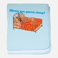 CBr Where you gonna sleep baby blanket