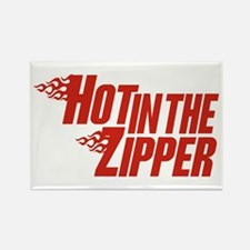 Hot in the Zipper Rectangle Magnet