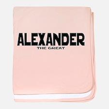 Alexander the Great baby blanket