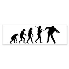 The Evolution Of Zombies Bumper Sticker
