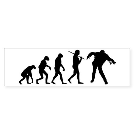 The Evolution Of Zombies Sticker (Bumper)