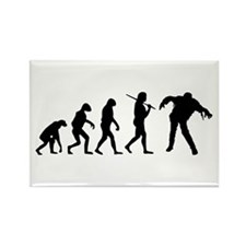 The Evolution Of Zombies Rectangle Magnet