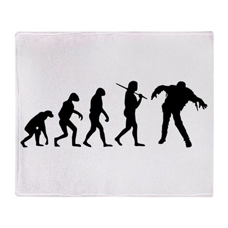 The Evolution Of Zombies Throw Blanket