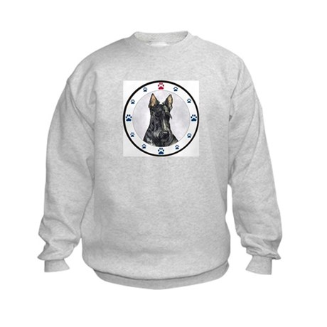 Scottish Terrier N Paws Kids Sweatshirt
