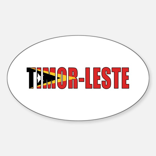 East Timor (Port.) Sticker (Oval)