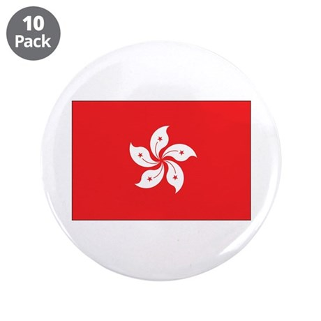 "Hong Kong Flag 3.5"" Button (10 pack)"