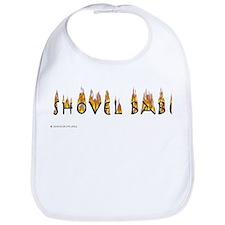 Shovel Babe - flames Bib