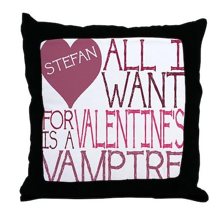 Stefan Valentine Throw Pillow