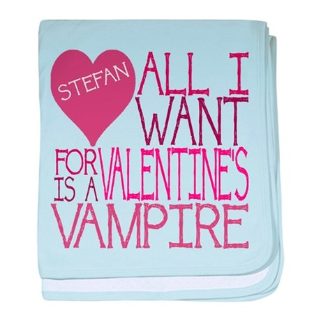 Stefan Valentine baby blanket