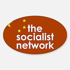 Cute Socialist network Sticker (Oval)