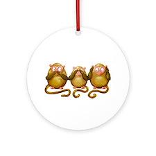 Three wise monkeys no hear see speak Ornament (Rou