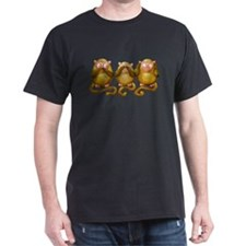 Three wise monkeys no hear see speak T-Shirt