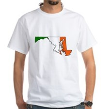 Maryland Irish White T-shirt