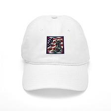 Scottish Terrier Scotty US Flag Hat