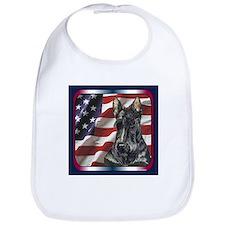 Scottish Terrier Scotty US Flag Bib
