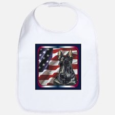 Scottish Terrier Scotty US Flag Bib