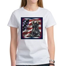 Scottish Terrier Scotty US Flag Tee