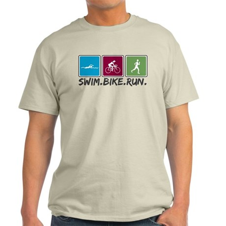 Swim Bike Run Light T-Shirt