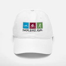 Swim Bike Run Baseball Baseball Cap