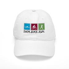 Swim Bike Run Baseball Cap